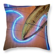 Whale Into Blue Wave Throw Pillow