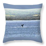 Whale Tail II Throw Pillow
