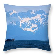 Whale Watchers Throw Pillow