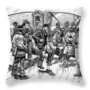 Whalers Gamming Throw Pillow