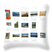 What A Wonderful World Calendar 2012 Throw Pillow by Juergen Weiss