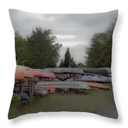 What Do Canoes Dream Of Throw Pillow