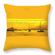 What Harbor Throw Pillow
