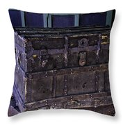 What Is In The Old Trunk Genoa Nevada Throw Pillow