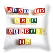 What Is Your Allergy Iq Throw Pillow
