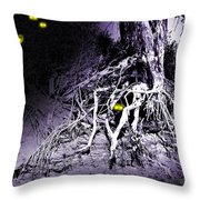 What Lies Along The River Banks Throw Pillow