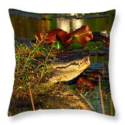 What Lurks On The Swamp Throw Pillow
