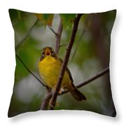 What Warblers Do Throw Pillow