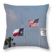 Whataburger Field Flags Throw Pillow