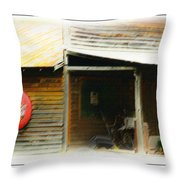 Whats Left Of Fifty's Store Front Throw Pillow