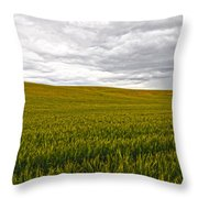 Wheat Field Homestead Throw Pillow
