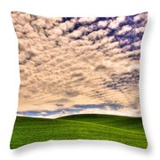 Wheat Field In The Palouse Throw Pillow