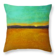 Wheat Field At Sunset Throw Pillow
