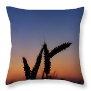 Wheat, Harvest Moon Throw Pillow