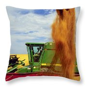 Wheat Harvest Throw Pillow