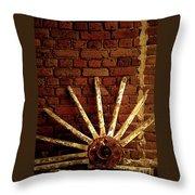 Wheel Against Wall Throw Pillow