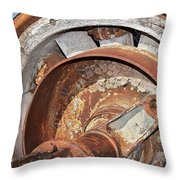 Wheel And Axle Throw Pillow