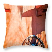 Wheel And Ice Throw Pillow