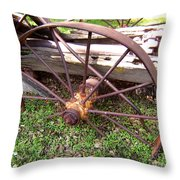 Wheel In Time Photograph Throw Pillow