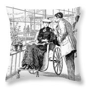 Wheelchair, 1886 Throw Pillow