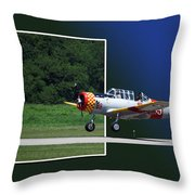 Wheels Down Open Canopy Throw Pillow