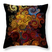 Wheels Keep On Turning Throw Pillow