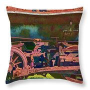 Wheels Of An Old Vintage Train Engine No.1026 Throw Pillow