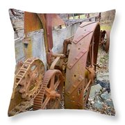 Wheels Through Time Throw Pillow