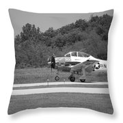 Wheels Up Black And White Throw Pillow