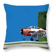 Wheels Up Throw Pillow