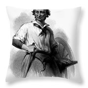 Wheelwright, 19th Century Throw Pillow
