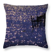 When A Day Ends Throw Pillow