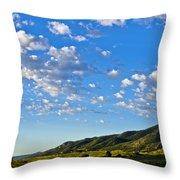 When Clouds Meet Mountains 2 Throw Pillow