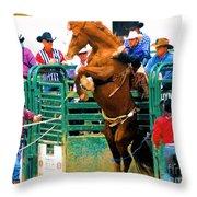 When Cowboys Take Notice Throw Pillow