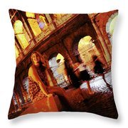 When In Rome Throw Pillow