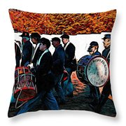 When Johnny Comes Marching Home Throw Pillow