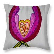 When Love Blooms.. Throw Pillow