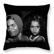 When Mother Smiles Throw Pillow