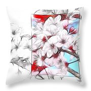 When The Almond Trees Are In Blossom  Throw Pillow