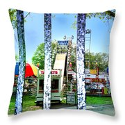 When The Carnivale Came To Town Throw Pillow