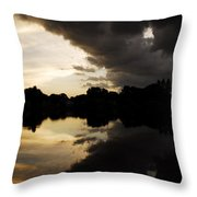 When The Days End Meets The Nights Storm  Throw Pillow