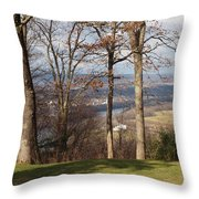 Where Are The Hills Throw Pillow by Robert Margetts
