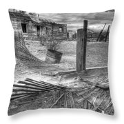 Where Does The Story End Monochrome Throw Pillow