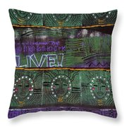 Where Many Are Gathered Throw Pillow