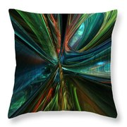 Where Tech Meets Digital Abstract Fx  Throw Pillow