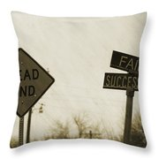 Which Road To Take Throw Pillow
