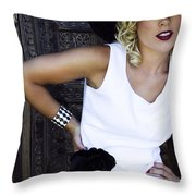 Whimsical Palm Springs Throw Pillow