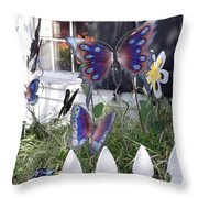 Whimsical Window Throw Pillow
