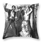 Whipping Post, 1878 - To License For Professional Use Visit Granger.com Throw Pillow