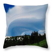 Whirling Clouds  Throw Pillow